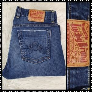 Lucky womans size 8 bootcut dark wash jeans
